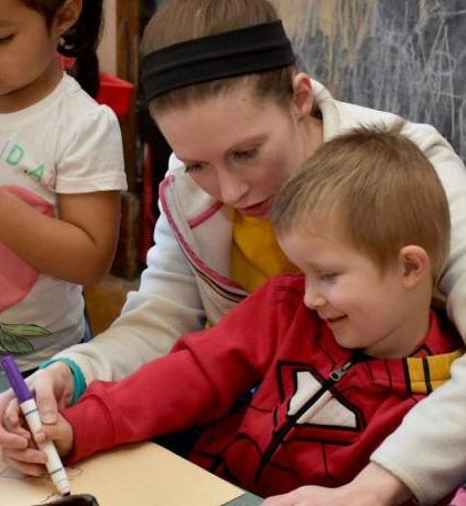enrolling the child to a preschool